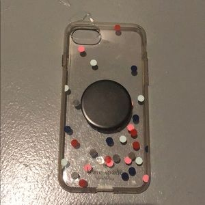 Kate spade iPhone 7 case with pop socket